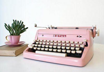 maquina de escribir rosa
