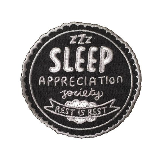 Sleep Appreciation Society Woven Patches   Veronica Dearly Illustration