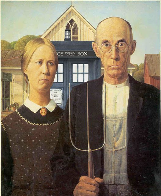 American Gothic with the Tardis.