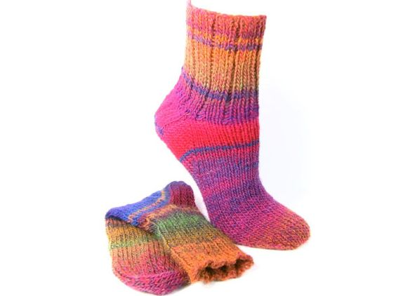 177 ELMSDALE Virgin Wool Blend Hand Knit Socks by SlicKnitsSocks