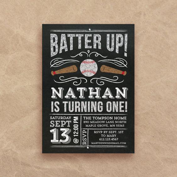 Baseball Birthday Invitation  first birthday  by QuiteFetchingDIY
