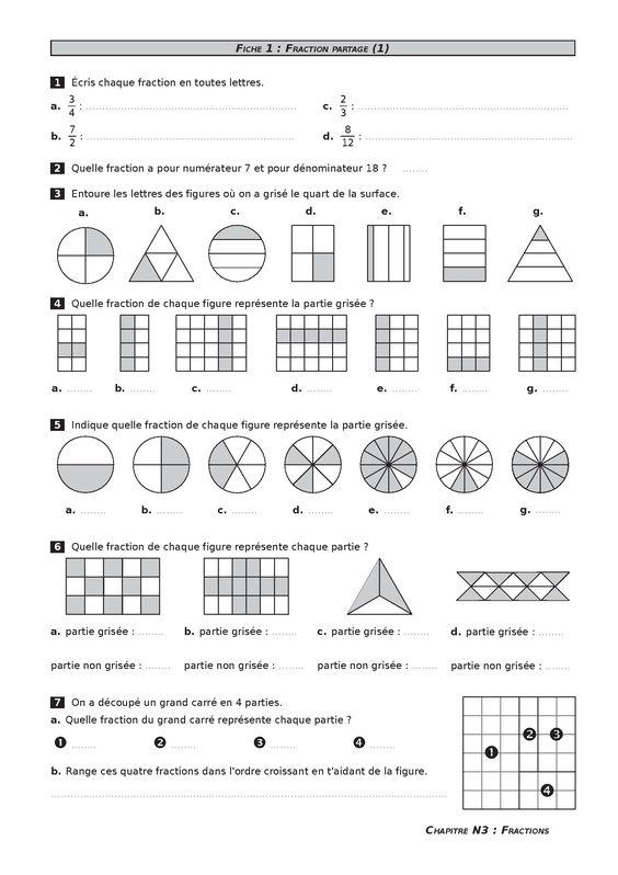 Un fichier de math matiques complet sous licence libre cc by sa pour l 39 ann e de cm2 a la fois - Les fractions cm1 exercices a imprimer ...
