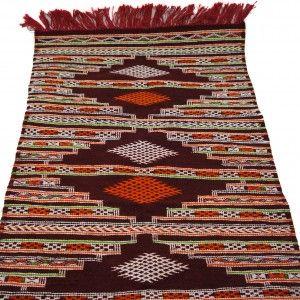 Moroccan Handwoven Wool Kilim Rug