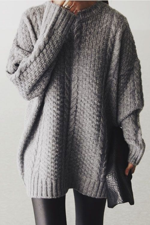 50  Stylish Winter Outfits for Women 2016 | Oversized knit ...
