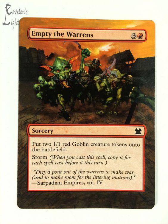 Empty the Warrens - Full Art MTG Alter - Revelen's Light Altered Art Magic Card