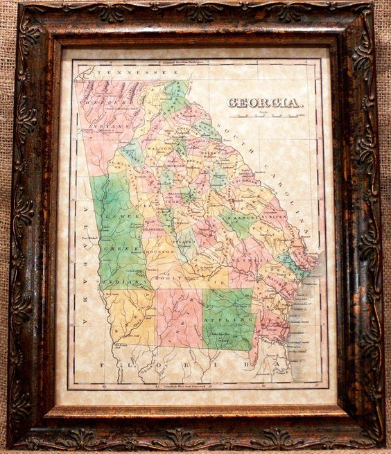 Georgia Maps And US States On Pinterest - Parchment paper map of us