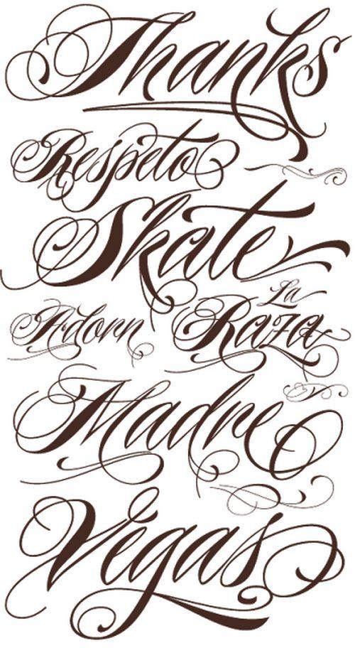 Tattoo Lettering Fonts Script | Tattoos. | Pinterest | Back photos ...