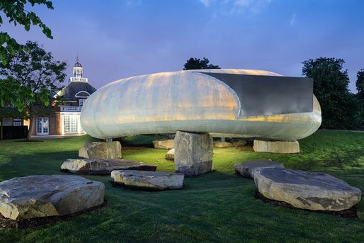 Smiljan Radic unveils egglike 14th Serpentine Pavilion in London's Kensington Gardens