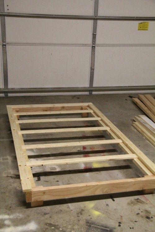 Simple Twin Platform Bed Plans Woodworking Sketch Online Twin