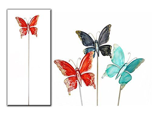 Stecker Schmetterling Länge 95 cm (blau) Denk…