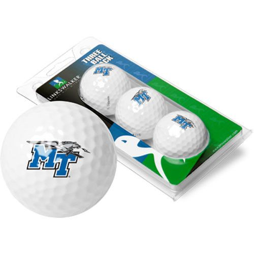 Middle Tennessee State Blue Raiders NCAA 3 Golf Ball Sleeve Pack