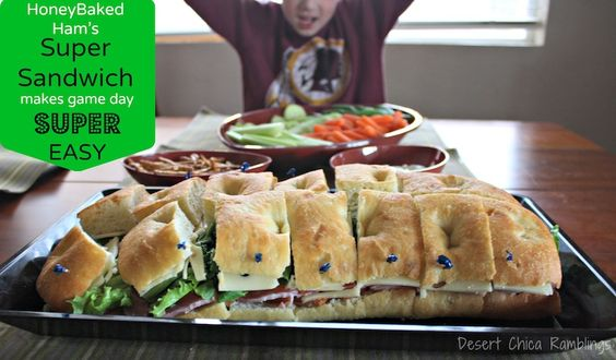 Super Sandwich for the Super Bowl {HoneyBaked Ham Giveaway} $25 HoneyBaked Ham #ad Ends 1/27