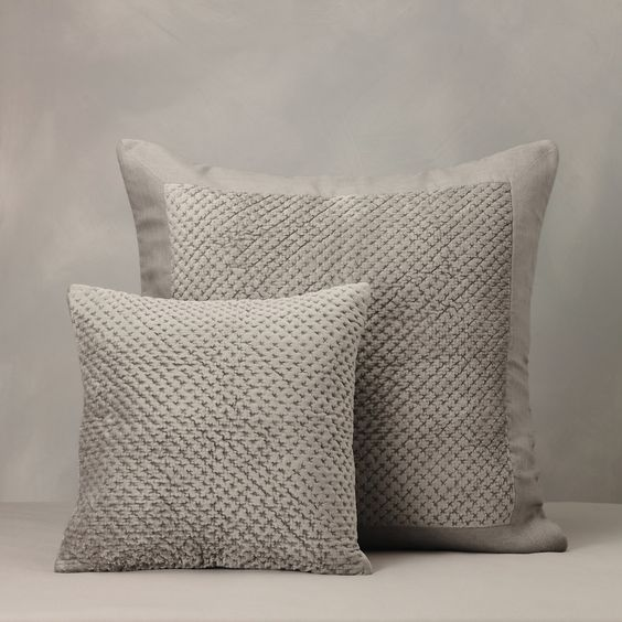 £30-40 Buy Bedroom > Bedspreads & Cushions > Tuscany Cushion Covers - Mink from The White Company