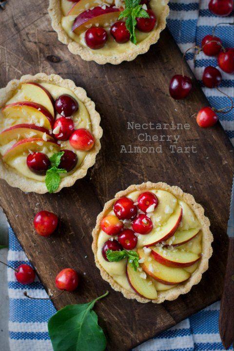 Nectarine & Cherry Almond Tarts 7