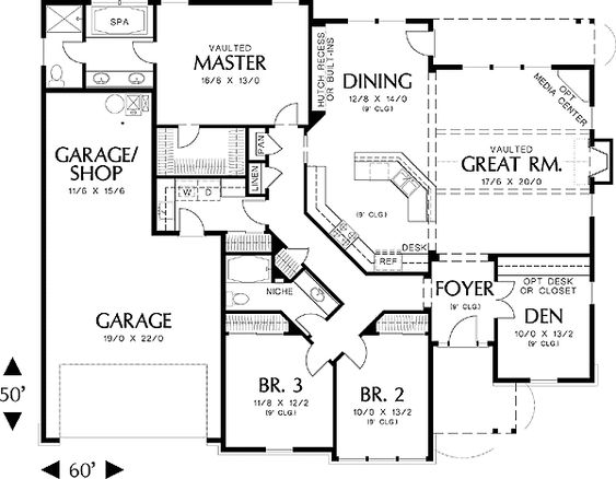 Plan 6930am charming country design house plans love for 2000 sq ft house plans with basement