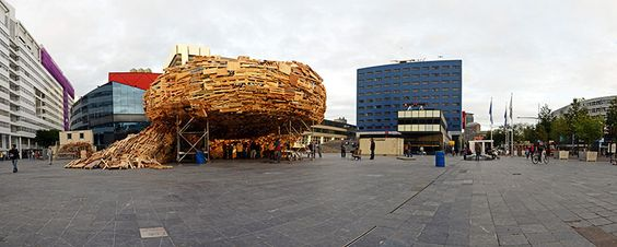raumlaborberlin recycles a vortex of waste material in the hague