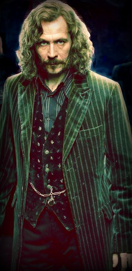 ORDER OF THE PHOENIX - Gary Oldman - Sirius Black nicknamed Padfoot, is the last heir to the House of Black, a once notable pure-blood Wizarding family. He remained close friends with James and became close to his wife, Lily, after being best man at their wedding. When Harry was born, the Potters named Sirius as his godfather.