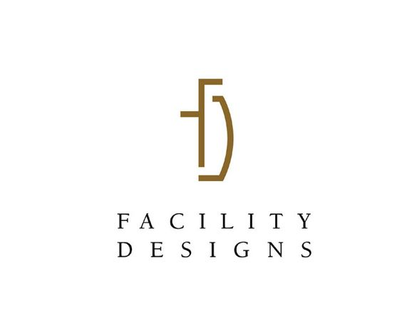 Identity:  Facility Designs.  This identity design, for an interior design and office furnishings company evokes the well-planned and sophisticated use of space this company is known for creating for their fortunate clients. An appropriate design solution we achieved through the subtle and inventive use of the first two letters of their name.