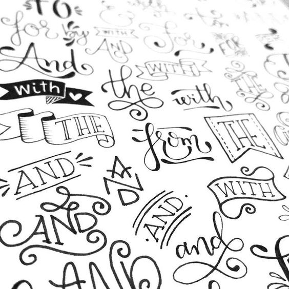 Doodles full of and lettering on pinterest