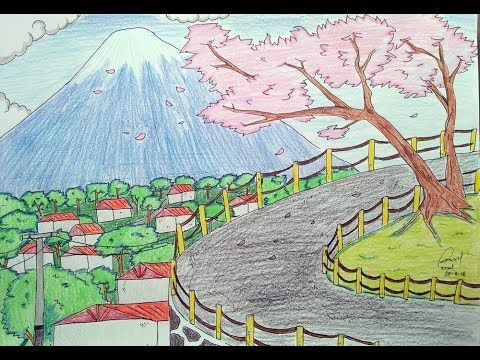 34 Foto Pemandangan Gunung Fuji Cara Menggambar Pemandangan Gunung Fuji Dan Sakura Youtube Download Kawaguchiko Menyaksikan Di 2020 Pemandangan Gunung Fuji Gambar