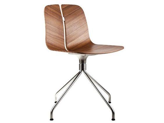 Cadeira de madeira com cavalete Coleção Link by Lapalma | design Hee Welling