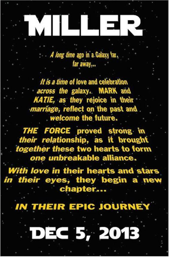 13 Chic Star WarsThemed Wedding Ideas Brn