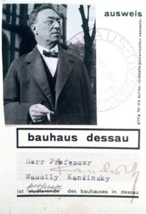 Germany. Wassily Kandinsky's Bauhaus ID card, 1920s