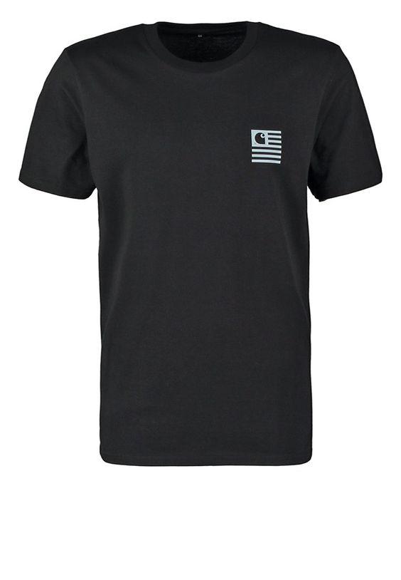 Carhartt WIP STATE MOUNTAIN TShirt print black Bekleidung bei Zalando.de | Material Oberstoff: 100% Baumwolle | Bekleidung jetzt versandkostenfrei bei Zalando.de bestellen!