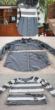 DIY de customização de roupas: como customizar um suéter em vestido  #diy #façavocemesma #customização #customizacao #custom #roupas #sueter #camisa #vestido  #moda #fashion #blogsnc
