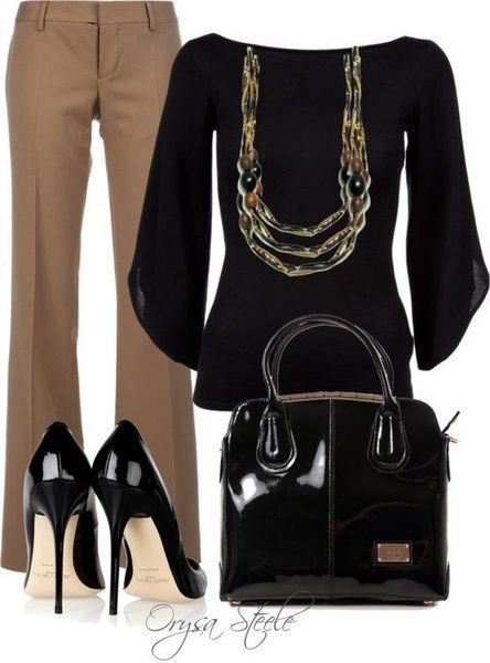 9 winter work outfits with trousers - Page 7 of 9 - women-outfits.com: