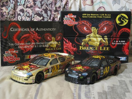 http://nascarniche.blogspot.com/  JEFF BURTON 1996 Racing Champions Bruce Lee Nascar