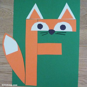 F for Fox Letter F craft and activities for preschool