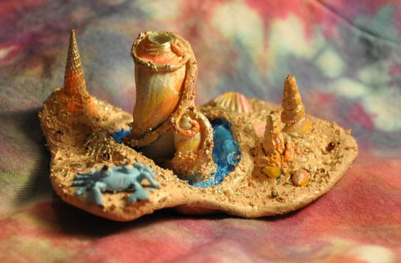 Shell Sand Castle Incense Holder by MoonYoga915 on Etsy, $20.00