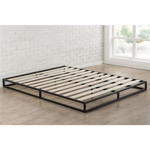 This Full Size 6 Inch Low Profile Metal Platform Bed Frame With