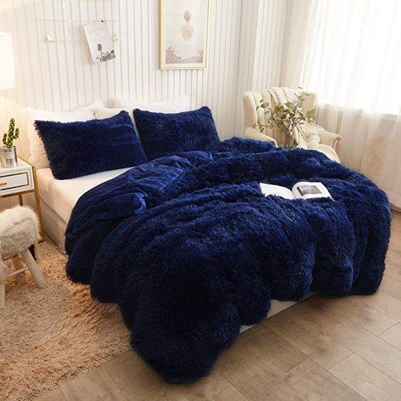 Amazon Com Xege Plush Shaggy Duvet Cover Luxury Ultra Soft Crystal Velvet Bedding Set 1pc 1 Faux Fur Duvet Cove In 2020 Velvet Duvet Velvet Bedding Sets Velvet Sheets