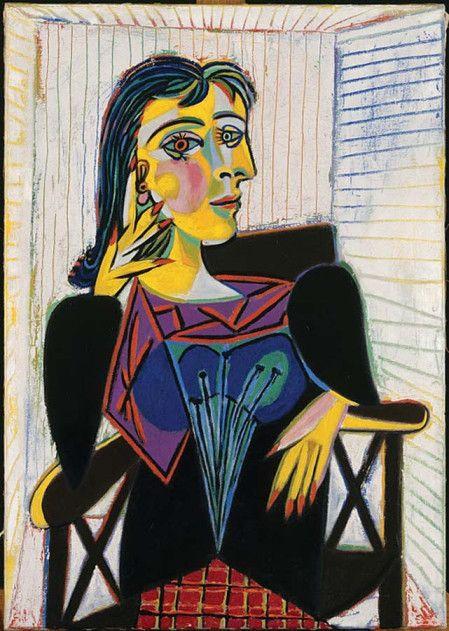 Pablo Picasso, Portrait of Dora Maar, 1937, Oil on canvas, Musée National Picasso, Paris