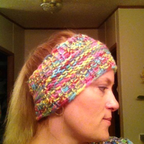 Knitting Loom Ear Warmer Pattern : Loom knit ear warmer things i want to learn to knit, etc Pinterest Tuto...