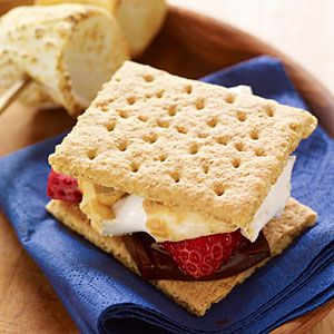 38 easy camping recipes | Strawberry and Chocolate S'mores | Sunset.com