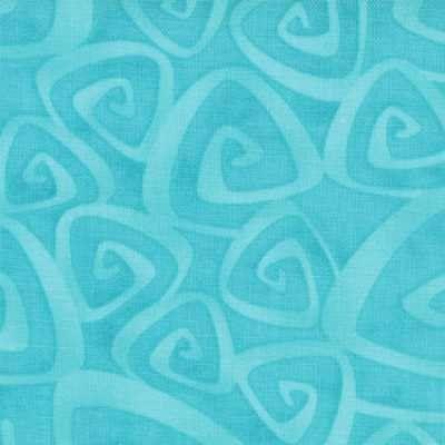 1 Yard Moda Twirl Turquoise Twirled Swirls Yardage SKU 22173-16