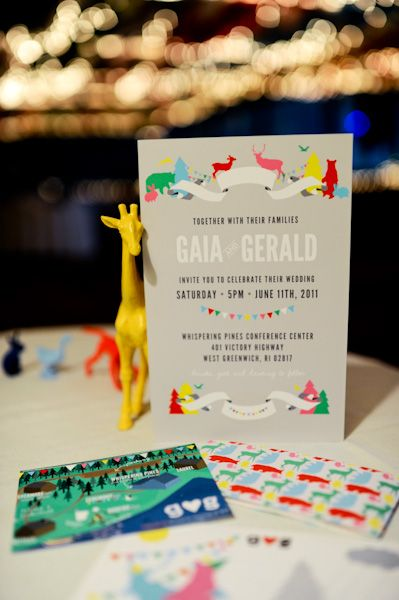 If I had to do my invites over again...  colorful (photo by Fat Orange Cat Studio)