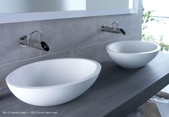 JEE-O moloko basin - vrijstaande opbouw wastafel - Product in beeld - - De beste badkamer ideeën   UW-badkamer.nl