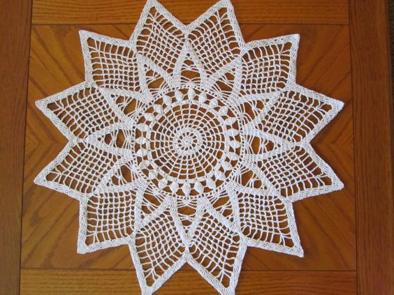 Crocheted Doily - White by PDRCreations on Etsy