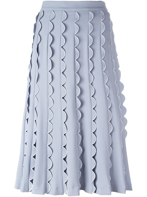 VIVETTA scalloped detailing A-line skirt. #vivetta #cloth #skirt