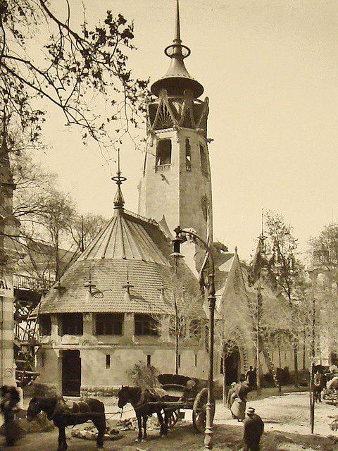 Paris Exposition 1900. Le pavillon finlandais a l' exposition universelle à Paris.