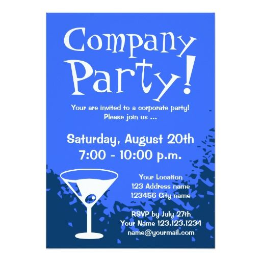 Corporate party invitations Company invites Corporate Party - office party invitation templates