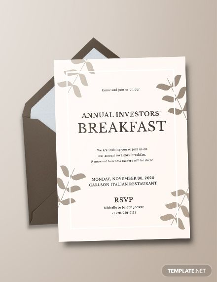 Corporate Breakfast Invitation Template Free Pdf Word Doc Psd Apple Mac Pages Illustrator Publisher Outlook Dinner Invitation Template Business Invitation Party Invite Template
