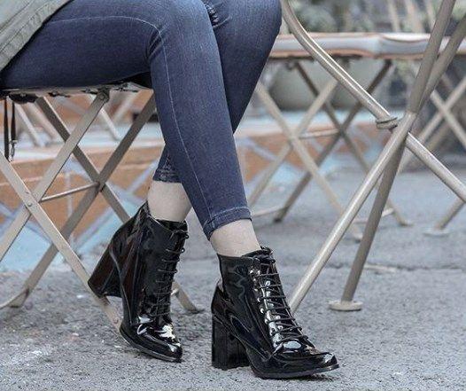 Kadin Rugan Bagcikli Bayan Bot Bot Bayan Ayakkabi Ayakkabilar
