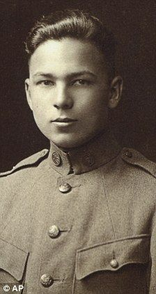 This August 1917 file photo provided by the Buckles Family shows Frank Buckles' enlistment photo into the U.S. Army.