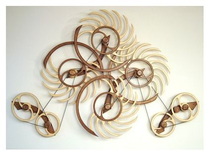 Avalanche Kinetic Sculpture by David C. Roy - David Roy's Blog | Wood That Works