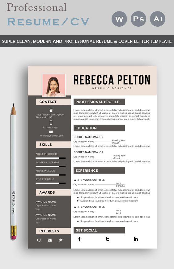 Professional Resume Template Modern Cv Template For Word Etsy Resume Template Professional Resume Template Modern Cv Template